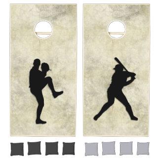 """""""Baseball Game"""" Pitcher and Batter Cornhole Set"""