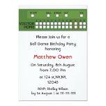 Baseball game scoreboard Birthday Party Invitation