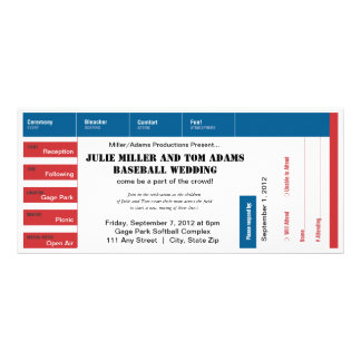 Baseball Game Ticket Wedding Invite Rack Card