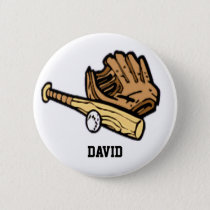 baseball gear  badge pinback button