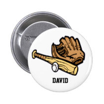baseball gear  badge pinback button