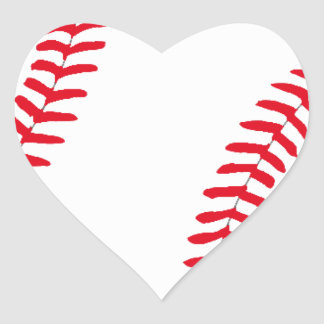Baseball Gear Heart Sticker