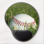 "Baseball Gel Mouse Pad<br><div class=""desc"">add text or upload your own image</div>"