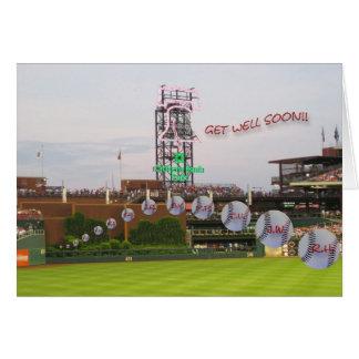 Baseball Get Well Soon Card