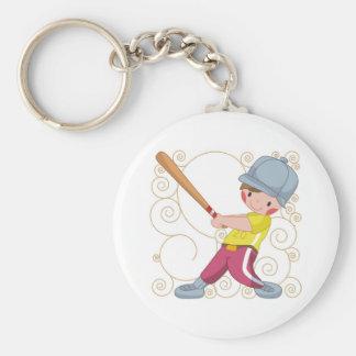 Baseball Gift Basic Round Button Keychain