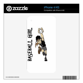 BASEBALL GIRL DECALS FOR iPhone 4S