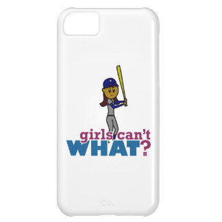 Baseball Girl in Blue Cover For iPhone 5C