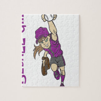 BASEBALL GIRL JIGSAW PUZZLE