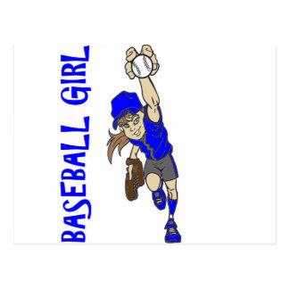 BASEBALL GIRL POSTCARD