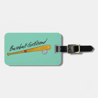 Baseball Girlfriend - Custom Luggage Tag