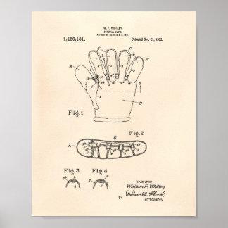 Baseball Glove 1922 Patent Art - Old Peper Poster