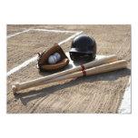 """Baseball Glove 5"""" X 7"""" Invitation Card"""
