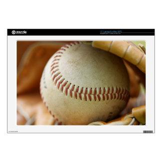 "Baseball Glove and Ball 17"" Laptop Skins"