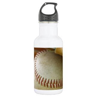 Baseball Glove and Ball 18oz Water Bottle
