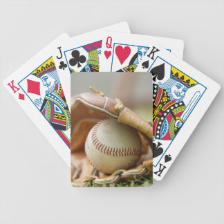 Baseball Glove and Ball Bicycle Playing Cards