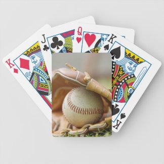 Baseball Glove and Ball Bicycle Playing Cards