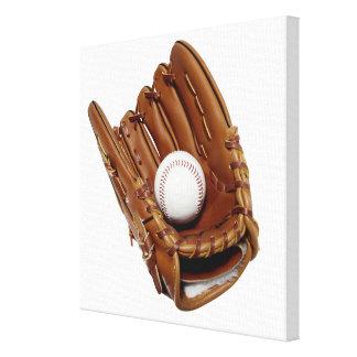Baseball Glove and Ball Canvas Prints