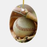 Baseball Glove and Ball Christmas Tree Ornaments