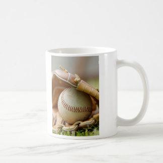 Baseball Glove and Ball Classic White Coffee Mug
