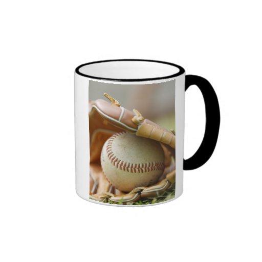 Baseball Glove and Ball Coffee Mugs