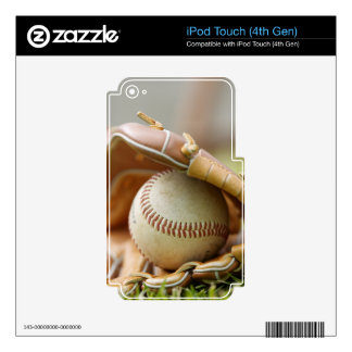 Baseball Glove and Ball Decal For iPod Touch 4G