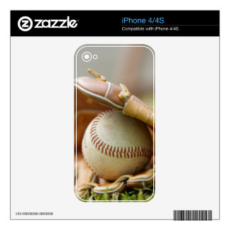 Baseball Glove and Ball Decal For The iPhone 4
