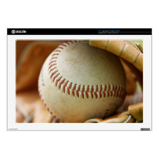 """Baseball Glove and Ball Decals For 17"""" Laptops"""