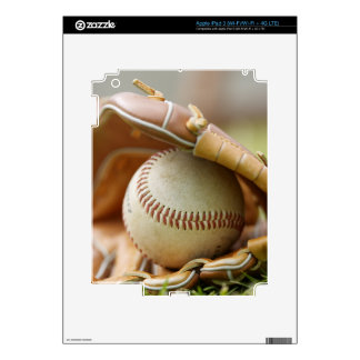 Baseball Glove and Ball Decals For iPad 3