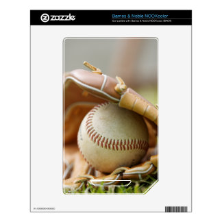Baseball Glove and Ball Decals For NOOK Color