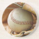 Baseball Glove and Ball Drink Coaster