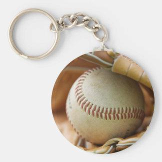 Baseball Glove and Ball Keychain