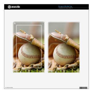 Baseball Glove and Ball Kindle Fire Skins