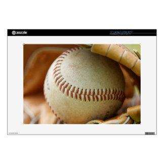 Baseball Glove and Ball Laptop Decal