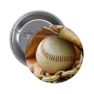 Baseball Glove and Ball Pinback Button