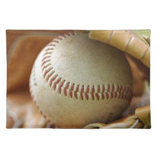 Baseball Glove and Ball Placemat