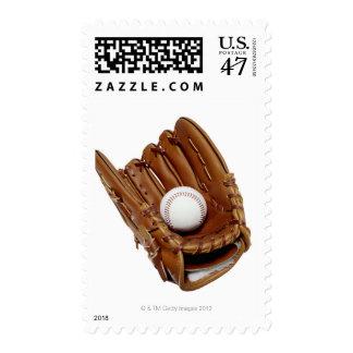 Baseball Glove and Ball Postage Stamp