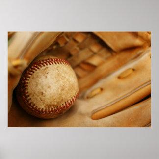 Baseball Glove and Ball Print