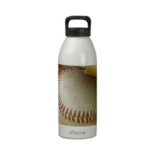 Baseball Glove and Ball Reusable Water Bottle