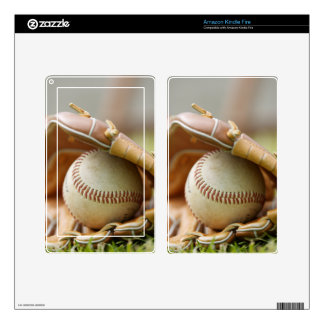 Baseball Glove and Ball Decal For Kindle Fire