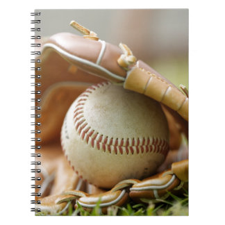 Baseball Glove and Ball Spiral Note Books