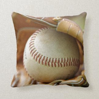 Baseball Glove and Ball Throw Pillows