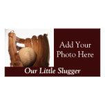 Baseball Glove & Ball Photo Card