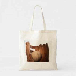 Baseball Glove & Ball Tote Bag