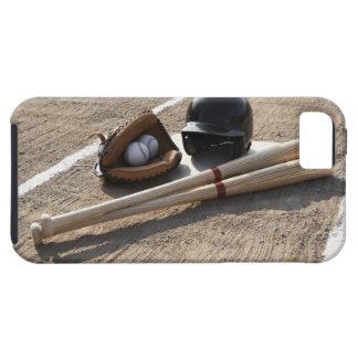 Baseball glove, balls, bats and baseball helmet iPhone SE/5/5s case