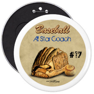 Baseball Glove - brown leather Pins