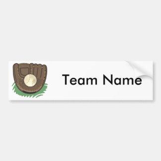 Baseball Glove Bumper Sticker