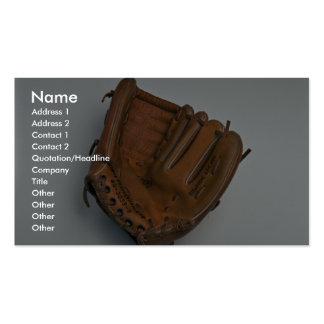 Baseball glove business cards