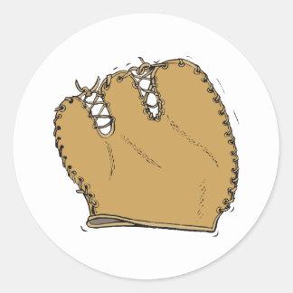 Baseball Glove Classic Round Sticker
