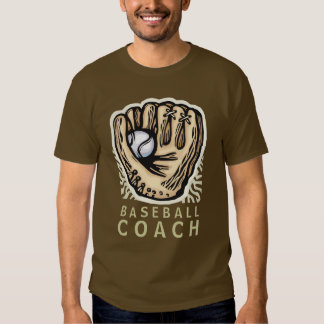 Baseball & Glove Coach Design T-shirt