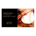 Baseball & Glove Grunge Style Double-Sided Standard Business Cards (Pack Of 100)